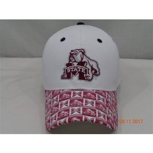Mississippi State University Baseball Cap-White