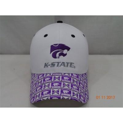 Kansas State University Baseball Cap-White